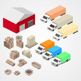 Warehouse, logisti and factory, warehouse building, warehouse exterior Royalty Free Stock Image