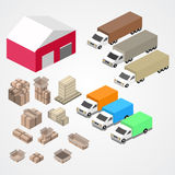 Warehouse, logisti and factory, warehouse building, warehouse exterior Stock Images
