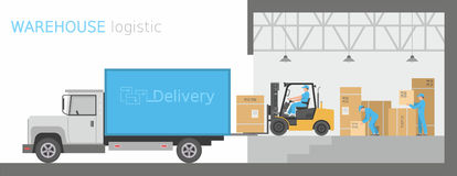 Warehouse logistic Royalty Free Stock Image