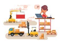 Warehouse logistics concept design Royalty Free Stock Photo