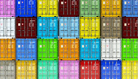 Warehouse logistics, freight transportation and shipment business industry concept Royalty Free Stock Image