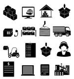 Warehouse logistics icons set Royalty Free Stock Photo