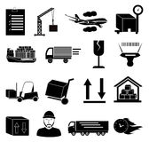 Warehouse logistics icons set Stock Photo