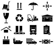 Warehouse logistics icons set Royalty Free Stock Photography