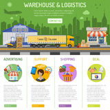 Warehouse and logistics infographics royalty free illustration