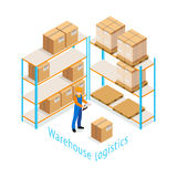 Warehouse Logistics Isometric Design Royalty Free Stock Image