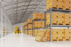 Warehouse logistics, packages shipment, delivery and loading concept Royalty Free Stock Photography