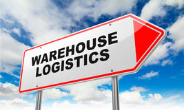 Warehouse Logistics on Red Road Sign. Stock Image