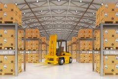 Warehouse logistiken, packesändningen, leveransen och päfyllningsbegreppet Royaltyfri Bild