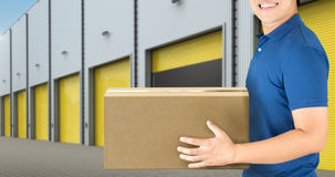Warehouse man working Stock Photo