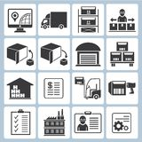 Warehouse management icons Royalty Free Stock Image