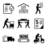 Warehouse management icons Stock Images
