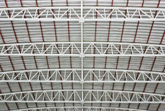 Warehouse metal roof Stock Photos