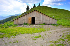 Warehouse in the mountain Stock Image