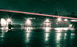 Warehouse at night Royalty Free Stock Photo