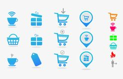 Warehouse objects for use in reports or design Royalty Free Stock Images