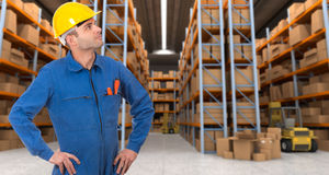 Warehouse operative a Royalty Free Stock Photo