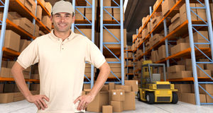 Warehouse operative a Royalty Free Stock Photos