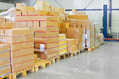 Warehouse packages Stock Photography