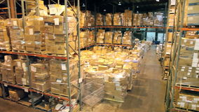 Warehouse Pan stock video footage