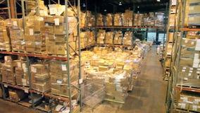 Warehouse Pan stock video footage