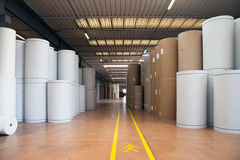 Warehouse (paper and cardoboard) in paper mill Stock Photo