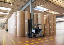 Warehouse (paper and cardoboard) in paper mill Royalty Free Stock Photography