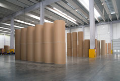 Warehouse (paper and cardoboard) in paper mill Stock Photography