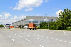 Warehouse parking Stock Image