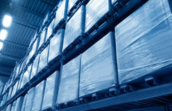 Warehouse. Photo of a Warehouse in a low angle Royalty Free Stock Image