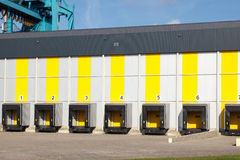Warehouse in port Stock Photography