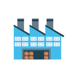 Warehouse poster Royalty Free Stock Photography