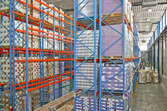 Warehouse rack Royalty Free Stock Photos