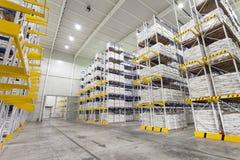 Warehouse racking system Stock Image