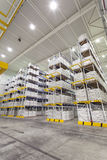 Warehouse racking system Stock Images