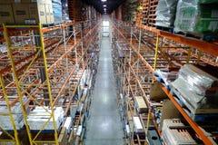 Warehouse Racks Stock Photo