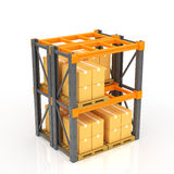 Warehouse Racks stock image