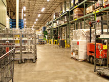 Warehouse receiving area Royalty Free Stock Photos