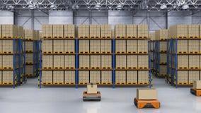 Warehouse robot carry box
