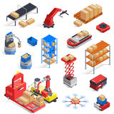 Warehouse Robots Icon Set Royalty Free Stock Images