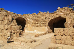 Warehouse ruins in Caesarea Maritima National Park Stock Photography