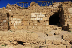 Warehouse ruins in Caesarea Maritima National Park Royalty Free Stock Photos