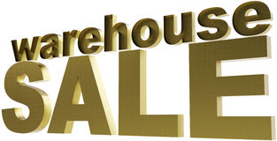 Warehouse sale Royalty Free Stock Photo