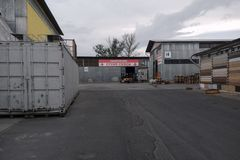 Warehouse for the sale and storage of building materials. Shopping royalty free stock image