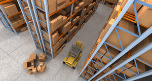 Warehouse scenes aerial Royalty Free Stock Images