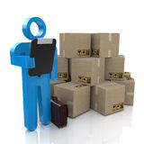 Warehouse services concept Royalty Free Stock Images