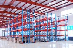 Warehouse shelf. Empty warehouse shelf with modern decoration royalty free stock photos
