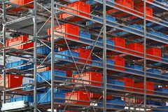 Warehouse shelf royalty free stock images
