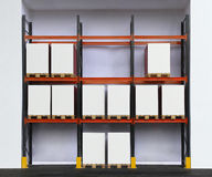 Warehouse Shelf Royalty Free Stock Photo