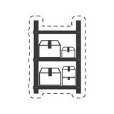 Warehouse shelve boxes cargo. Illustration eps 10 Royalty Free Stock Photo